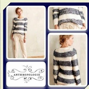 Anthropologie Tabitha Eyelash Striped Sweater Sz S
